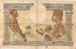 Très Beau Billet De 100 Francs Non Daté (1937) BANQUE DE MADAGASCAR - Madagascar