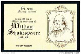 Booklet Of Vietnam Viet Nam 2016 : 400th Death Anniversary Of William Shakespeare / 04 Scans (Ms1067)