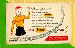 BUVARD :  Employez PRESTO   Cadeau Une Partie Du  Joli Train - Produits Ménagers