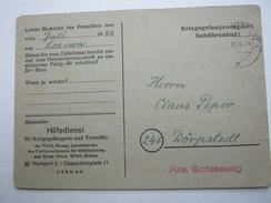 1949 , Heimkehrerpost , Karte Aus Stuttgart