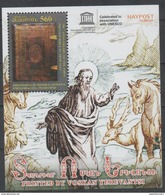 ARMENIA ,2016, MNH, CHRISTIANITY,350TH ANNIVERSARY OF FIRST BIBLE PRINTED IN ARMENIAN, HORSES, FAUNA, S/SHEET