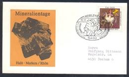 "Germany 1983 Minerals; Mineraux Bergbau Mines Halit Fossil Fosil Mineralogy Fossilien; Blaubleierz"" Plumbeine; Gal"