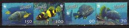 Vanuatu 2006 WWF - Fish.strip Of 4.MNH