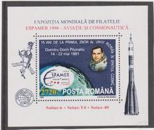 ROMANIA 1996  World Philatelic Exhibition ESPAMER 1996- Romanian Cosmonaut D.PRUNARIU S/S(Block)MNH**