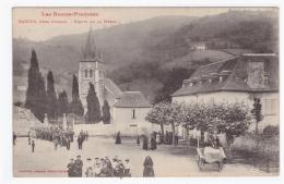 """BARCUS Près Oloron *Sortie De La Messe""""(carte Animée) - France"""