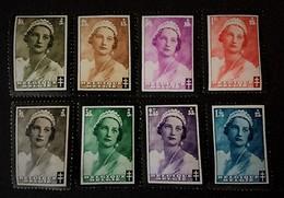 1935 Mort De La Reine Astrid/lutte Contre La Tuberculose Yv.411-418 *)