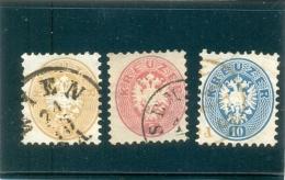 1863 AUTRICHE Y & T N° 24 - 25 - 26 ( O ) Les 3 Timbres !!!