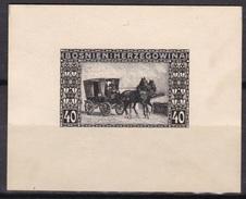 Bosnia Herzegovina Sc40 Mail Wagon, Horse, Carriage, Cheval, Proof, Epreuve