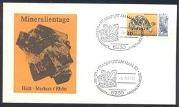 Germany 1983 Minerals; Mineraux Bergbau Mines HALIT Fossil Fosil Mineralogy Fossilien; Frankfurter Mineralien Messe;