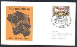 Germany 1984 Cover Minerals; Mineraux Bergbau Mines HALIT Fossil Fosil Mineralogy Fossilien; Mining; Hewebria '84