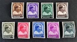 1936 Kronpriinz Baudouin/ Tuberkulosebekampfung Mi.-Nr.434-441 *) + 1937 Tag Der Briefmarke Mi.-Nr. 442 *)