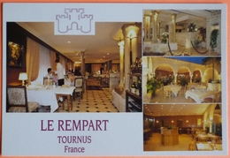 CARTE TOURNUS - 71 - HOTEL RESTAURANT LE REMPART -SCAN RECTO/VERSO -9