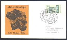 Germany 1984 Cover Minerals; Mineraux Bergbau Mines HALIT Fossil Fosil Mineralogy Fossilien; TOKTIT METEORIT Thailand