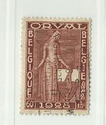 Timbre Belgique Première Orval   N° 261 - 60c + 15c