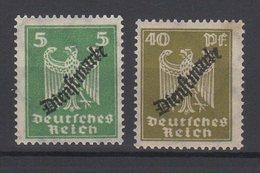 Deutsches Reich / Dienstmarken Freimarken MiNr. 356, 360 Mit Schwarzem, Schlangenförmigem Aufdruck / MiNr. 106, 110