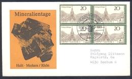 Germany 1984 Cover Minerals; Mineraux Bergbau Mines HALIT Fossil Fosil Mineralogy Fossilien; Fosilen Börse Freiburg