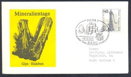 Germany 1983 Cover Minerals; Mineraux Bergbau Mines GIPS Fossil Fosil Mineralogy Fossilien Mineralien Und Fossilienbörse