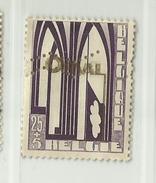 Timbre Belgique Première Orval Perforée   N° 259A - 25c + 5c - Used Stamps