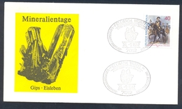 Germany 1982 Cover Minerals; Mineraux Bergbau Mines GIPS Fossil Fosil Mineralogy Fossilien Mineralien Und Fossilienbörse