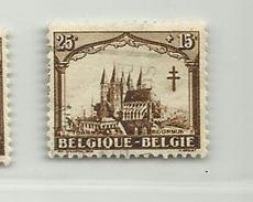 Timbre Belgique Antituberculeux. Série Dite Les Cathédrales   N° 268 - 25c + 15c