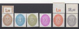 Deutsches Reich / Dienstmarken Freimarken: Wertziffern Im Oval (Strohhutmuster) / MiNr. 114, 117, 119, 127,128, 129