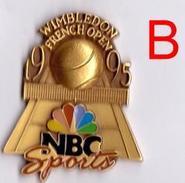 ANCIEN PIN'S PINS TENNIS FRENCH OPEN NBC (B) 1995 EN RELIEF ARTHUS BERTRAND - Tenis