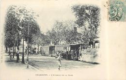 CHAMBERY - L'avenue De La Gare, Train Tramway, Carte 1900.