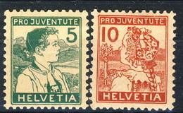 Svizzera Pro Juventute 1915 Serie N. 149-150 MLH Cat. € 90 - Svizzera