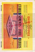 42 - ROANNE - BUVARD ENVELOPPES ETS. PAUL DUBUIS- IMPRIMERIE PAPETERIE- - Carte Assorbenti
