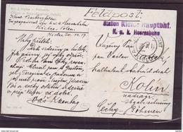 K U K Heeresbahn KIELCE 1917 Feldpost Poland Austria , AK Styka