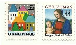 1986 - Stati Uniti 1693/94 Natale