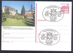 Germany 1982 PS Card Merzig Schloss Kirche; Minerals Mineraux Bergbau Mines Mineralogy Mining Grube Dorothea Clausthal
