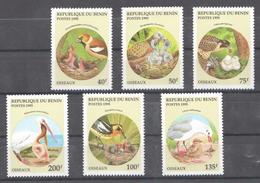 A6 1995 REPUBLIQUE DU BENIN FAUNA BIRDS OISEAUX 1SET MNH
