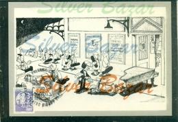 PALERMO-CARTOON-HUMOR-TEATRI-STRUMENTI MUSICALI-ILLUSTRATORI-QUINO-QUIPOS-ANNULLO SPECIALE-MARCOFILIA - Illustratori & Fotografie