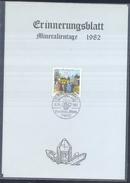 Germany 1982 Card Minerals Mineraux Bergbau Mines Mineralogy Mining Mineralien Und Fossilien Börse Freiburg