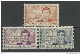 Niger N°  64 / 66  XX René Caillié Les 3 Valeurs Sans Charnière, TB