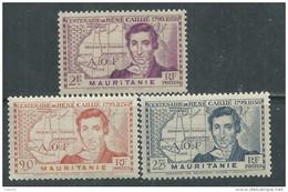 MAURITANIE N° 95 / 97 XX René Caillé Les 3 Valeurs Sans Charnière, TB
