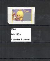Variété Adhésif De 2008 Neuf** Y&T N° Adh 163 2 Bandes à Cheval
