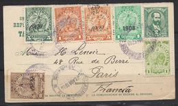 Paraguay Pour La France Sur Carte Postale - Paraguay