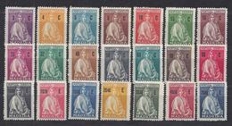 """PORTUGAL - MADERE - 1929 - Série Complète """" Cérès """" N° 46 à 66 - Neufs - XX - B/TB -"""