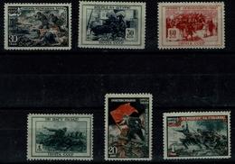 RUSSIA 1945 THE GREAT PATRIOTIC WAR OF 1941-1945 MI No 953-8 MNH VF!!