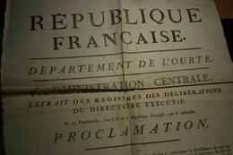 1798 République Française Département De L'Ourte Extrait Des Registres Des Délibérations... (14) - Affiches