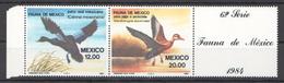 A16 1984 MEXICO FAUNA BIRDS 1SET MNH