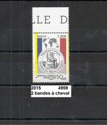Variété De 2015 Neuf** Y&T N° 4959 2 Bandes à Cheval