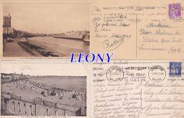 2 CPSM 9X14  LES SABLES D'OLONNE (85) - VUE GENERALE De La PLAGE - La CHAUME - Le CHENAL... N° 91/5-  NEGUS - - Sables D'Olonne