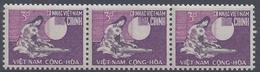 """VIET-NAM SUD - 1968 - """" Inauguration Du Bureau De Poste Mobile """" N° 329 - Bande De 3 - Roulette - XX - MNH - TTB -"""
