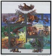 UKRAINE 1999 ** MNH Block BIRDS Nature Reserves Fauna ANIMALS
