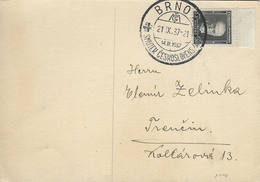 Card Used   Brno Czechoslovakia  1937  H-932