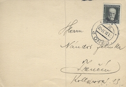 Card Used   Brno Czechoslovakia  1937  H-933