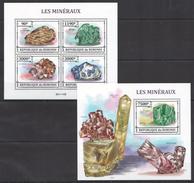 A22 2013 BURUNDI NATURE LES MINERAUX KB+BL MNH